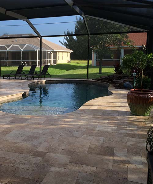 Lanai in Cape Coral showcasing pool